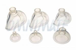 Anestesia - Transparente para permitir controles visuales en busca de sangrado y vómitos.