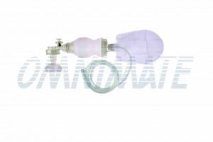 सिलिकॉन अंबु बैग + एयर कुशन मास्क#1 - 350ml - सिलिकॉन रिससिटेटर शिशु पुन: प्रयोज्य + एयर कुशन मास्क # 1 - 300 मिली