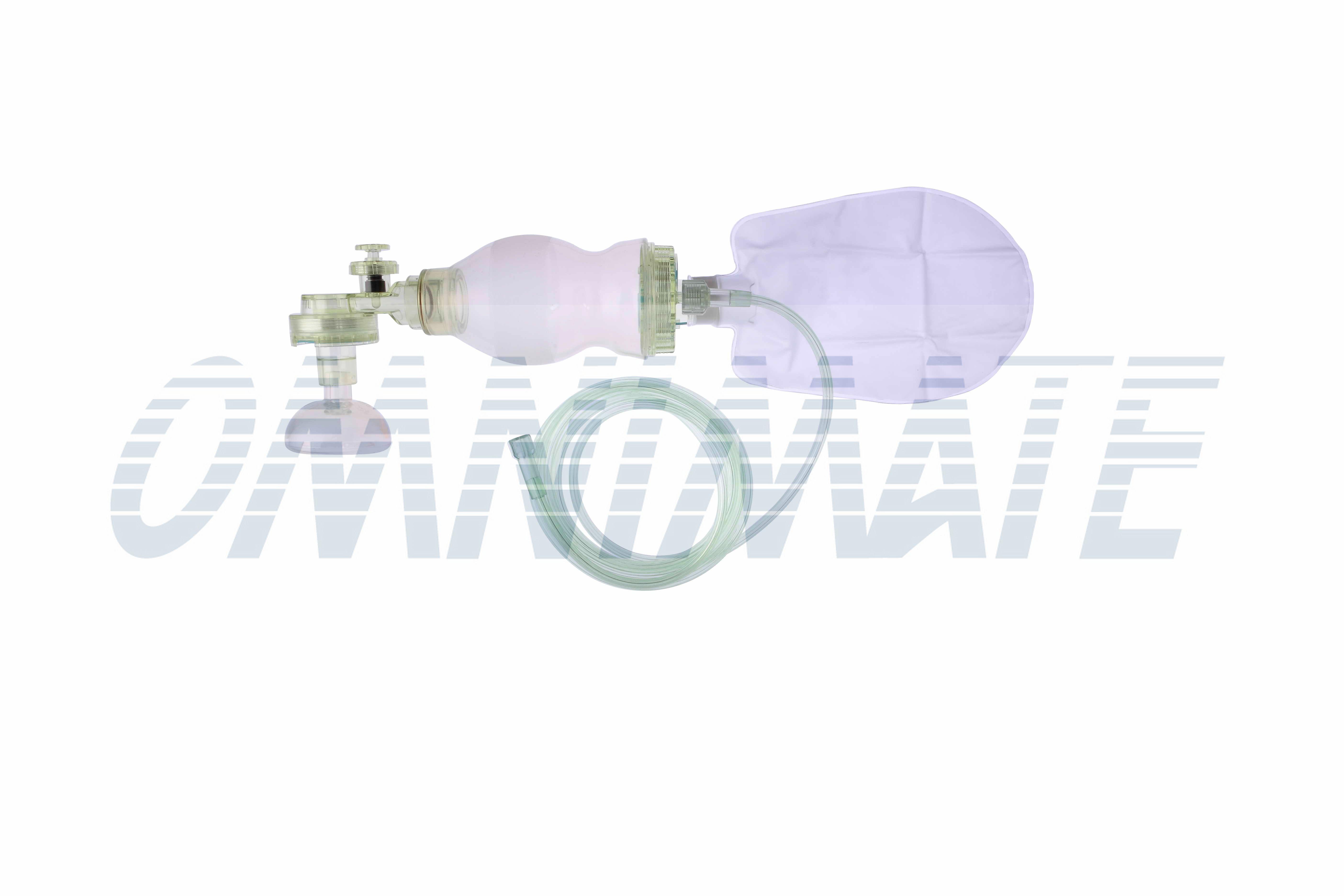 Wiederverwendbare Silikon-Beatmungsbeutel für Säuglinge + Luftpolstermaske Nr. 1 - 300 ml