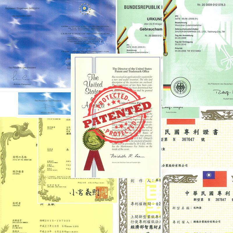 Patents of livinbox storage box & organizer