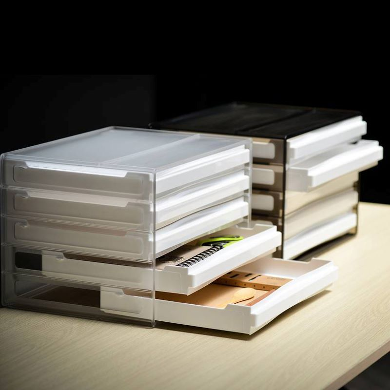 दराज के साथ प्लास्टिक फ़ाइल कैबिनेट