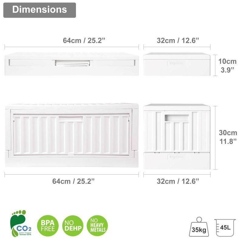 Dimension of side-open plastic box