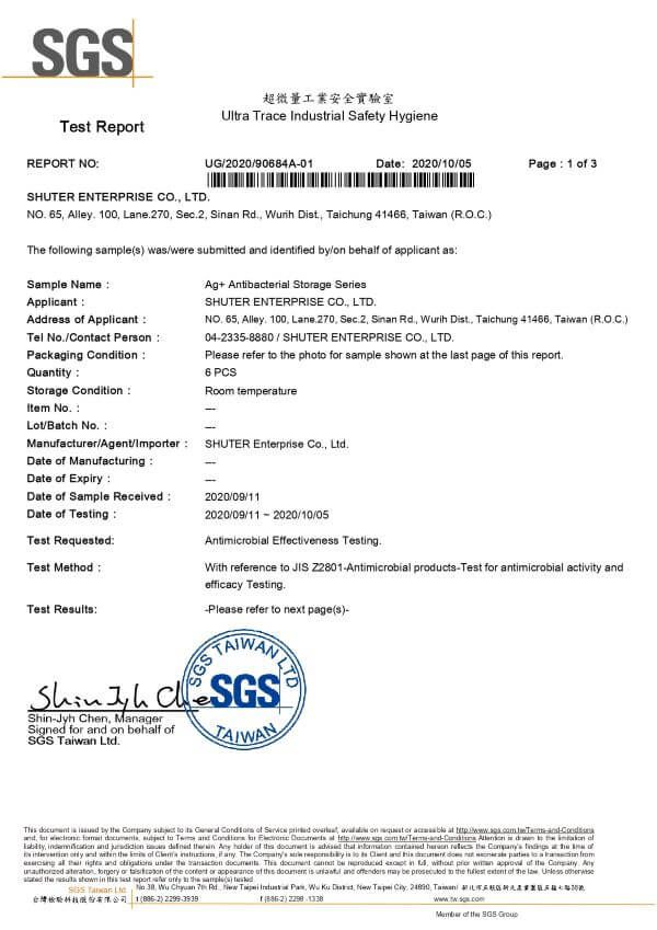 Antimicrobial Effectiveness Testing Report