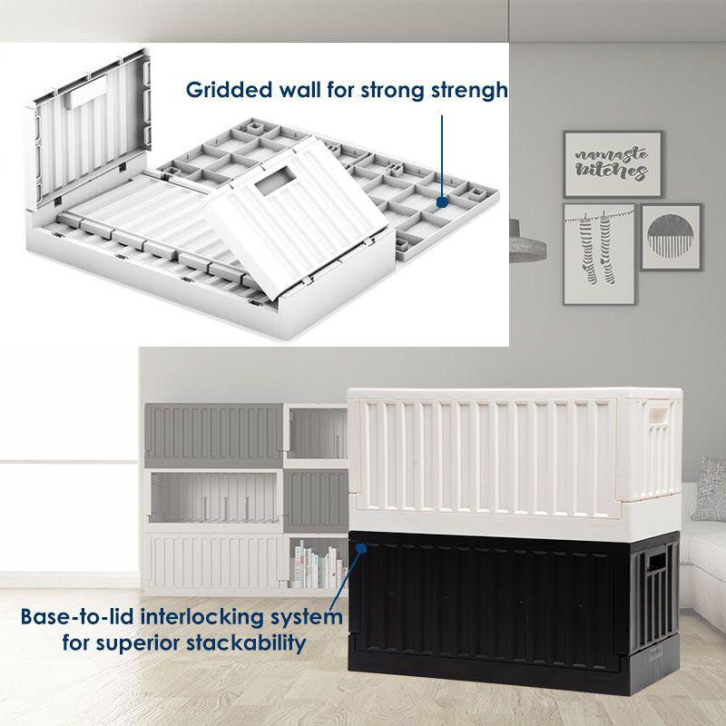 Safely stackable storage bin
