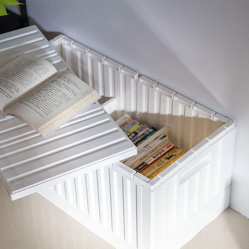 Lidded storage bin