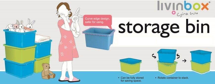 Application of stackable storage bin