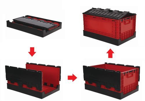 60L Flip-Cover Collapsible Storage Box