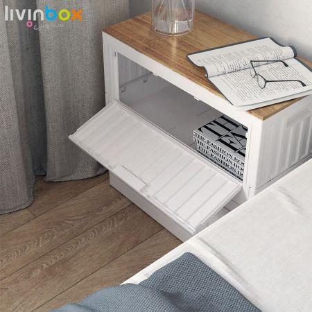 livinbox plastic collapsible storage bin