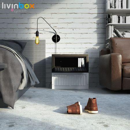 livinbox plastic foldable storage box with side-open door
