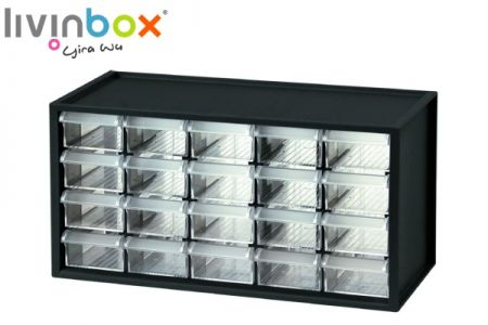 Middle plastic desktop storage with 20 drawers - Middle plastic desktop organizer with 20 drawers