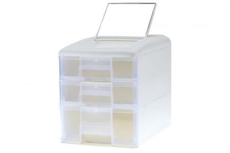 Pure B5 Accessories Tower with 3 Assorted Drawers and Mirror