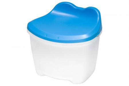 Tabouret de rangement pour enfants KeroKero - Volume de 7,8 litres - Tabouret de rangement pour enfants KeroKero en bleu.