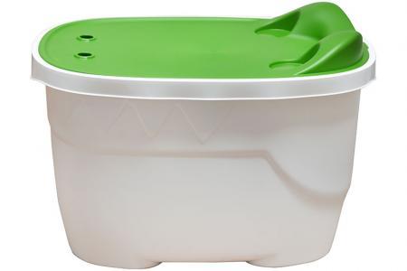 Boîte de rangement de table en alligator pour enfants - Volume de 46 litres - Table de jeu Kids Alligator en plastique durable et facile à nettoyer.