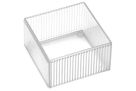 Square Vogue Storage Containers - Square Vogue desktop storage container in crystal.
