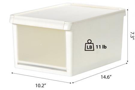 Drop-down Door Storage Box - 13 Liter Volume - Drop-down door storage box for shoes.