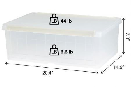 Aufbewahrungsbox für Klapptüren - 26 Liter Volumen - Aufbewahrungsbox für Klapptüren für Schuhe.