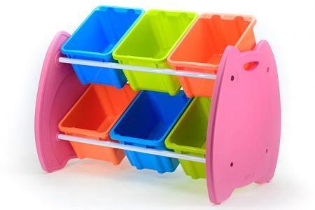 Tour de jouets hibou avec 6 bacs - Tour de jouets hibou avec 6 bacs.
