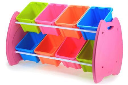 Tour de jouets hibou avec 8 bacs - Tour de jouets hibou avec 8 bacs.