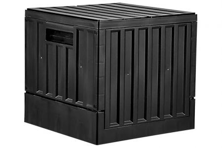 CARGO Small Collapsible Trunk - 23 Liter Volume - CARGO small collapsible trunk (23L volume) in black.