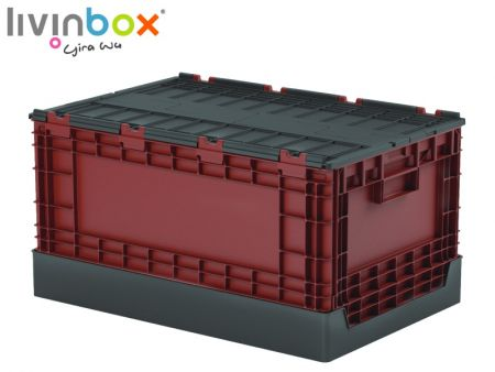 Plastic Storage Tote with attached lid