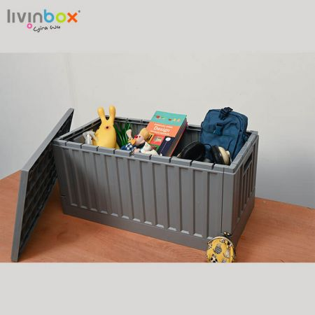 45L collapsible storage bin
