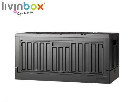 Side-Open folding storage box for organizer
