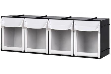 Flip Out Bin Set with 4 Drawer Compartments