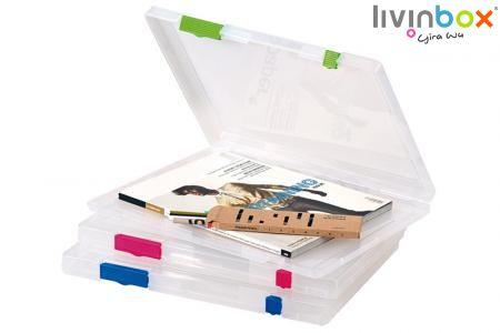 Portable File Case - File Storage, File Box, File Case, Carry Case, File Organizer