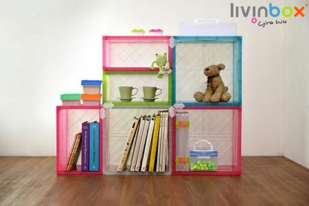 Cubby and Storage Cube - Flat Pack Storage Cube, Modular Cube Storage