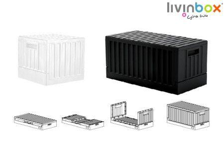 Collapsible Crate - Folding Basket, Folding Storage, Folding Crate