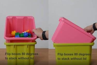 Flip storage container 80 degree