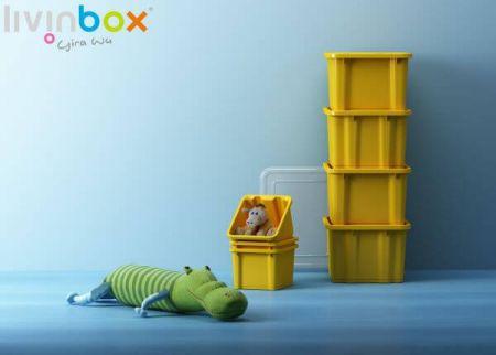 Nesting storage bin for saving space