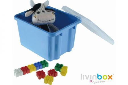 Keep dust away by storage bin with lid