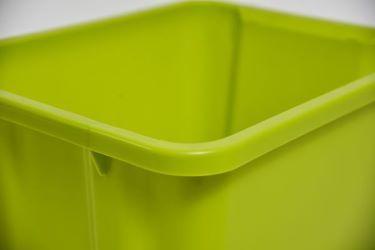 Nesting storage bin with round edge