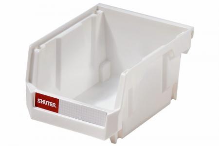 Stacking, Nesting & Hanging Bins - 0.6 Liter - Stacking, nesting and hanging bin (0.6L volume) in white.