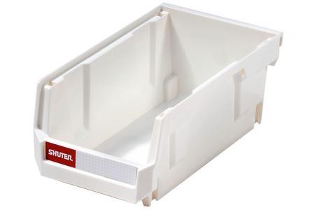Stacking, Nesting & Hanging Bins - 0.8 Liter - Stacking, nesting and hanging bin (0.8L volume) in white.
