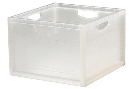 Large INNO Cube 1 with Handles for Storage - 27.7 Liter Volume - Large INNO Cube 1 with handles for storage (27.7L volume) in clear.