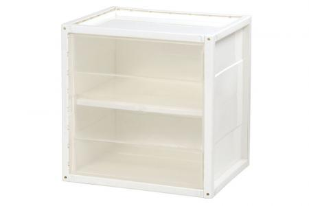 Shelf-and-Door INNO Cube 2 for Storage - Shelf-and-door INNO Cube 2 for storage in clear.