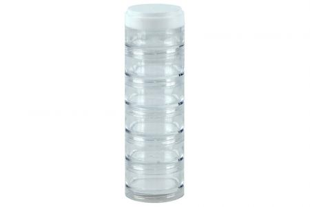 Portable Small Item Storage Tube with Diameter of 40 mm - 6 Compartments