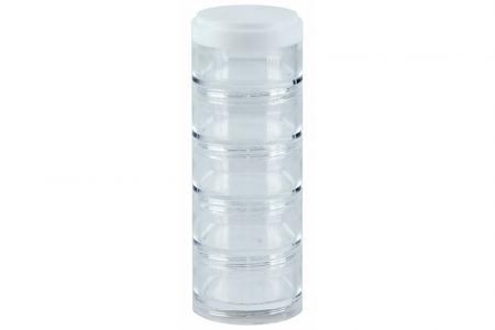Portable Small Item Storage Tube with Diameter of 50 mm - 5 Compartments