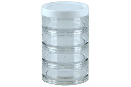Portable Small Item Storage Tube with Diameter of 70 mm - 4 Compartments