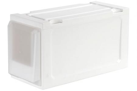 Slim Box Drawer (Series 3) - Single Tier - Single tier slim box drawer (Series 3) in clear.