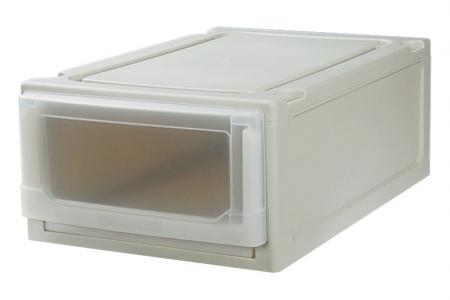 Box Drawer (Series 1) - Single-Tier - Single tier box drawer (Series 1) in beige.