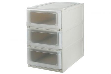 Box Drawer (Series 1) - Triple Tier - Triple tier box drawer (Series 1) in beige.