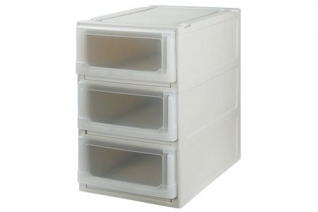 Box Drawer (Series 1) - Triple Tier - Triple tier box drawer (Series 1) in beige.
