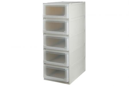 Box Drawer (Series 1) - Five Tier - Five tier box drawer (Series 1) in beige.