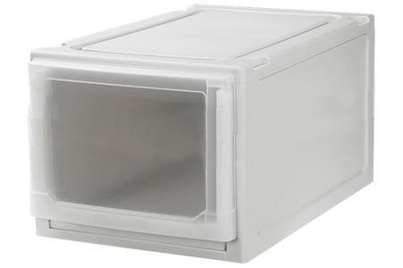 Slim Box Drawer (Series 1) - Single Tier - Single tier slim box drawer (Series 1) in beige.