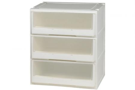 Box Drawer (Series 2) - Triple Tier - Triple tier box drawer (Series 2) in clear.