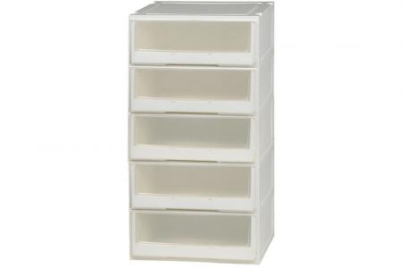 Box Drawer (Series 2) - Five Tier - Five tier box drawer (Series 2) in clear.