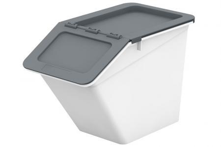 Klassischer Pelican Stack & Nest Vorratsbehälter - 13 Liter Volumen - Klassischer Pelican Stack & Nest Vorratsbehälter (13 l Volumen) in Grau.